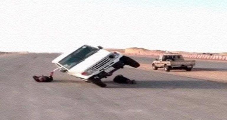 بالفيديو: استعراض خطر على عجلتين فقط !