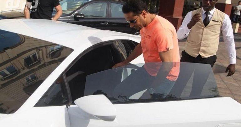 سامي الجابر يقود سيارة جديدة !