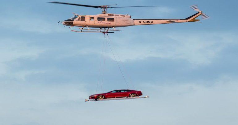 بالصور: لأول مرة.. جاكوار تطير فوق سماء لندن !