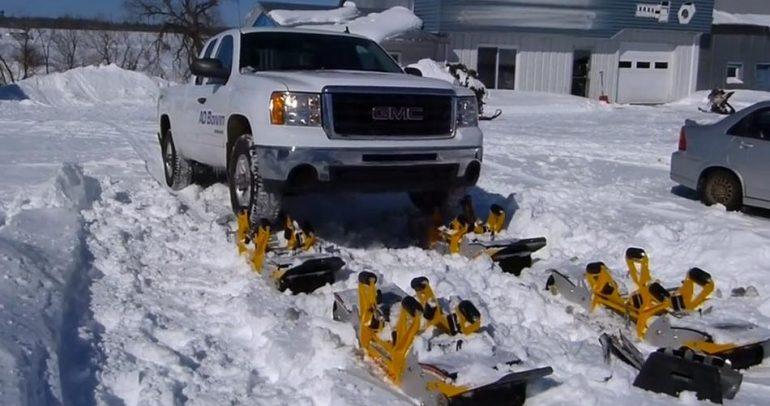 بالفيديو: طريقة مبتكرة تسمح لسياراتكم باختراق الثلوج!