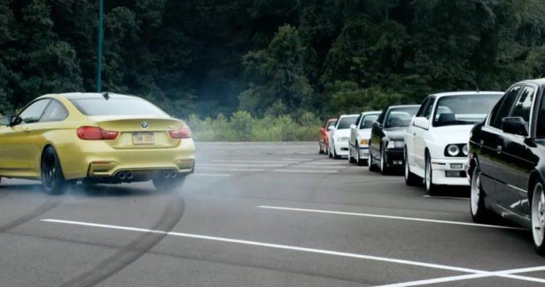 هكذا يكون التفحيط عندما تستعرض سيارات الـ بي أم دبليو عضلاتها! (فيديو)