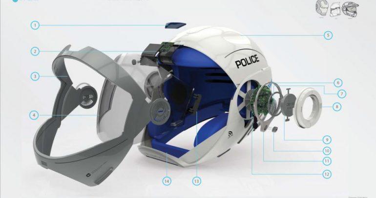 خوذة ذكية تجعلك شرطيا على دراجتك النارية