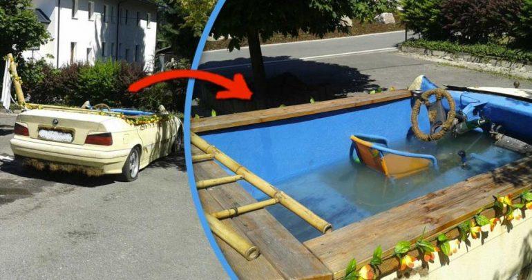 أصبح بامكانك السباحة وغسل الألبسة بالسيارات القديمة!