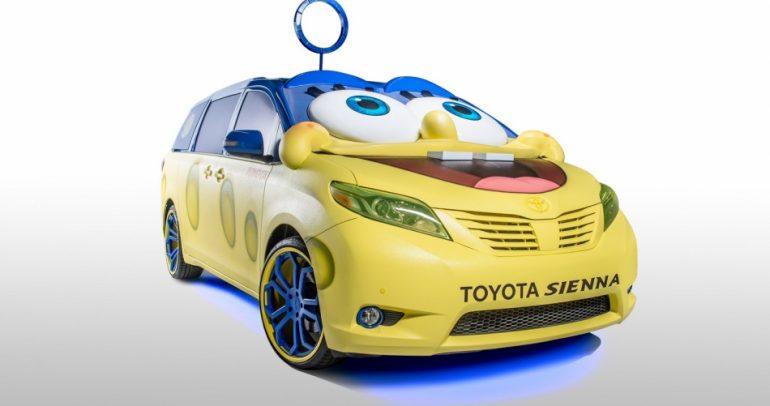 لماذا حضرت شخصية سبونجبوب الكرتونية معرض لوس أنجلوس للسيارات؟