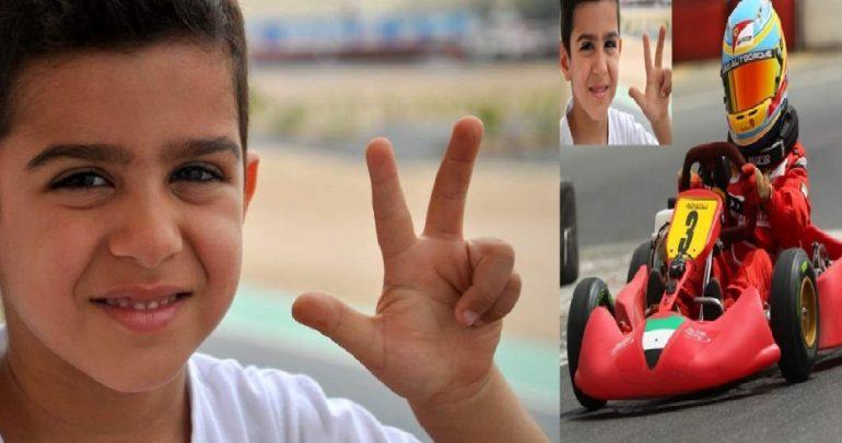 الطفل الامارتي المعجزة.. أصغر بطل لسباقات السيارات في العالم