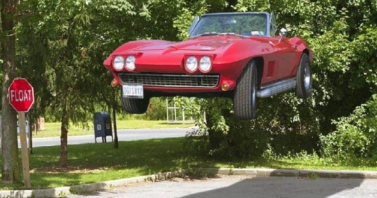 بالفيديو: سيارة تطير وترقص في الهواء !