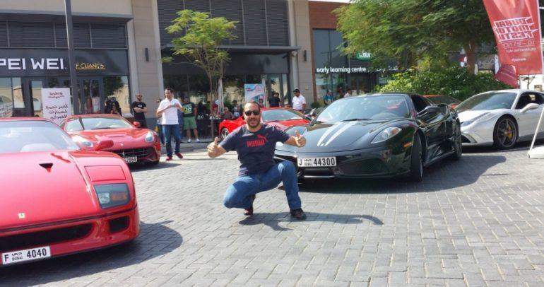 أكبر تجمع سيارات فيراري في سيتي ووك يبهر جمهور دبي