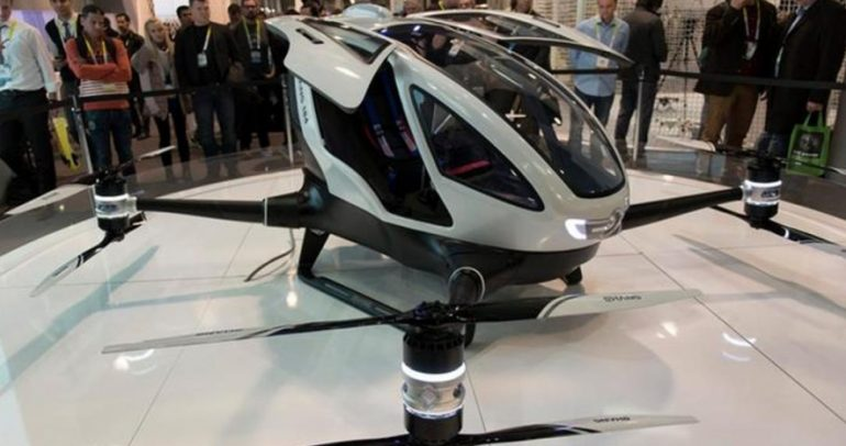 شركة صينية تصنع أول تاكسي طائر من دون طيار