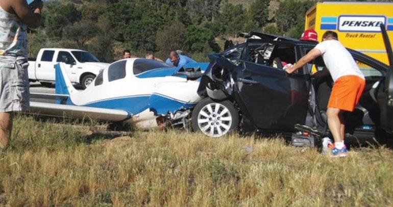 إصطدام طائرة بسيارة في كاليفورنيا حصيلته قتيل و5 إصابات