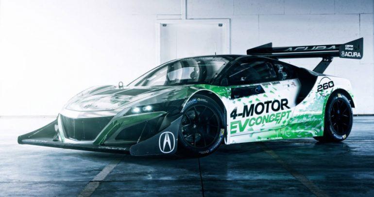 أكورا NSX الكهربائية جاهزة لسباق بايكس بيك