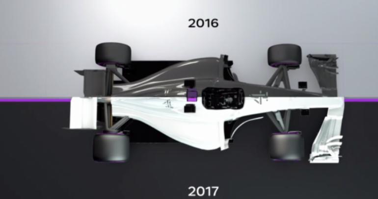 فيديو: كيف ستتغير سيارة فورمولا 1 في عام 2017