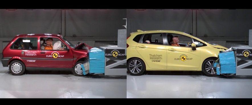 فيديو يكشف قدرة تحمل السيارات الصغيرة لحوادث الاصطدام