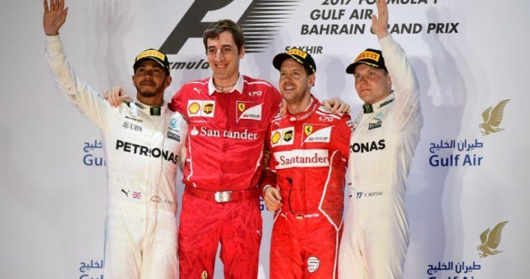 فيتيل يخطف فوزه الثاني لهذا الموسم بجائزة البحرين الكبرى 2017