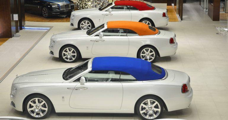 أجمل سيارات رولز رويس المعدلة بحسب الطلب في أبو ظبي