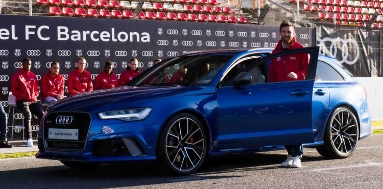 ما علاقة سيارة اودي RS بلاعبي فريق برشلونة الإسباني؟