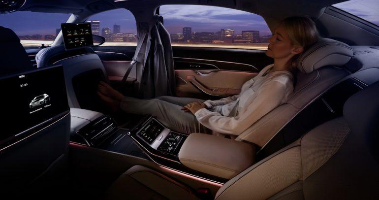 طراز اودي A8 L يحصل على تقنيات تكنولوجية مستقبلية بامتياز
