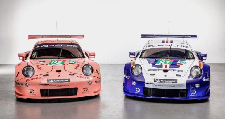 شركة بورشه تعيد احياء ألوان سيارات السباق القديمة لسباق 24 ساعة في لومان
