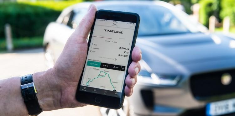 تطبيق هاتفي جديد لاختبار قيادة جاكوار I-PACE الكهربائية