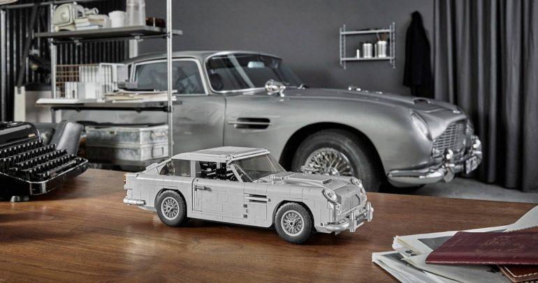 مصغر عن سيارة جيمس بوند مصنوع من قطع الليجو