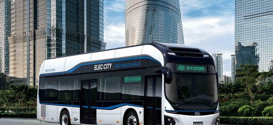 حافلات كهربائية عاملة بخلايا وقود الهيدروجين من هيونداي
