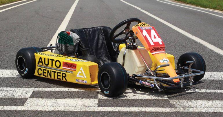 آخر سيارة كارتنج قادها آيرتون سينا معروضة للبيع