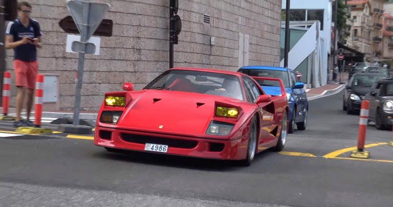 فيراري F40 بنظام عادم معدل تجوب شوارع امارة موناكو