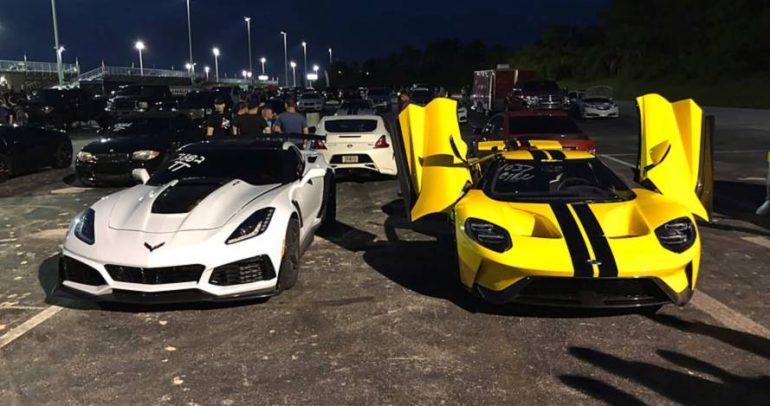 تحدي مميز بين كل من شفروليه كورفيت ZR1 وفورد GT فمن الفائز؟
