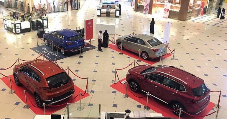 طرازات MG تبهر الزوار في سوق الطائف الدولي