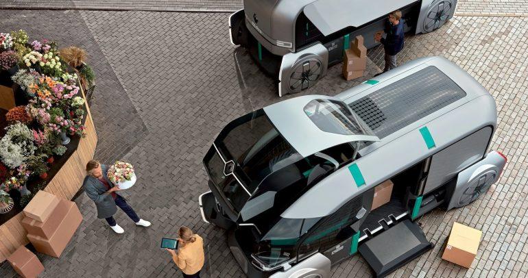 سيارة رينو EZ-pro الإختبارية تعكس تصورا عن مستقبل خدمات التوصيل