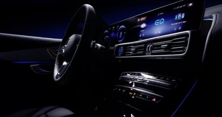 مرسيدس-بنز تكشف النقاب عن مقصورة احدى سياراتها الكهربائية