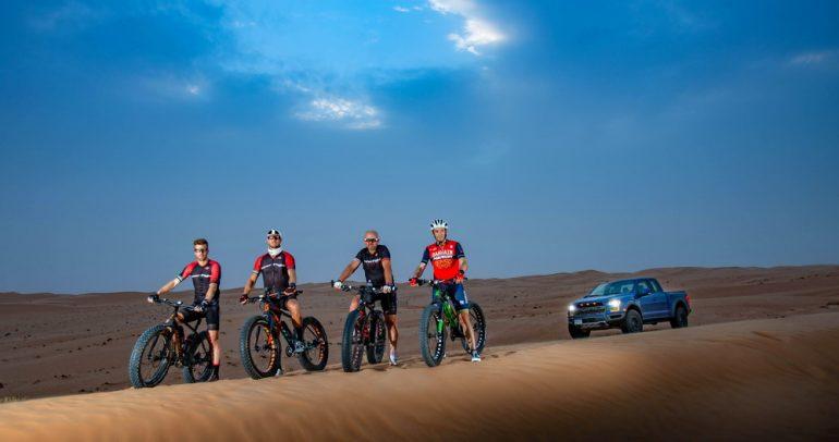 مغامرة قيادة دراجات هوائية في الصحراء!