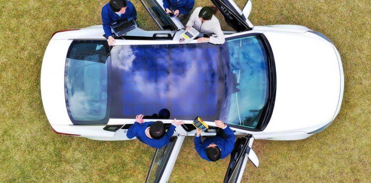 نظام الشحن الكهربائي بالطاقة الشمسية من هيونداي
