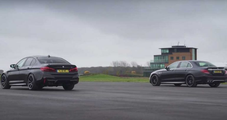 مرسيدس-بنز E63 S AMG وبي ام دبليو M5 كومبتشن تتواجهان لأول مرة في تحدي الانطلاق المستقيم