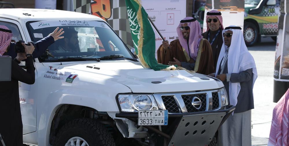 اختتام الدورة 14 من رالي حائل نيسان الدولي في السعودية