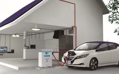 سيارات نيسان الكهربائية تزود المنازل بالطاقة