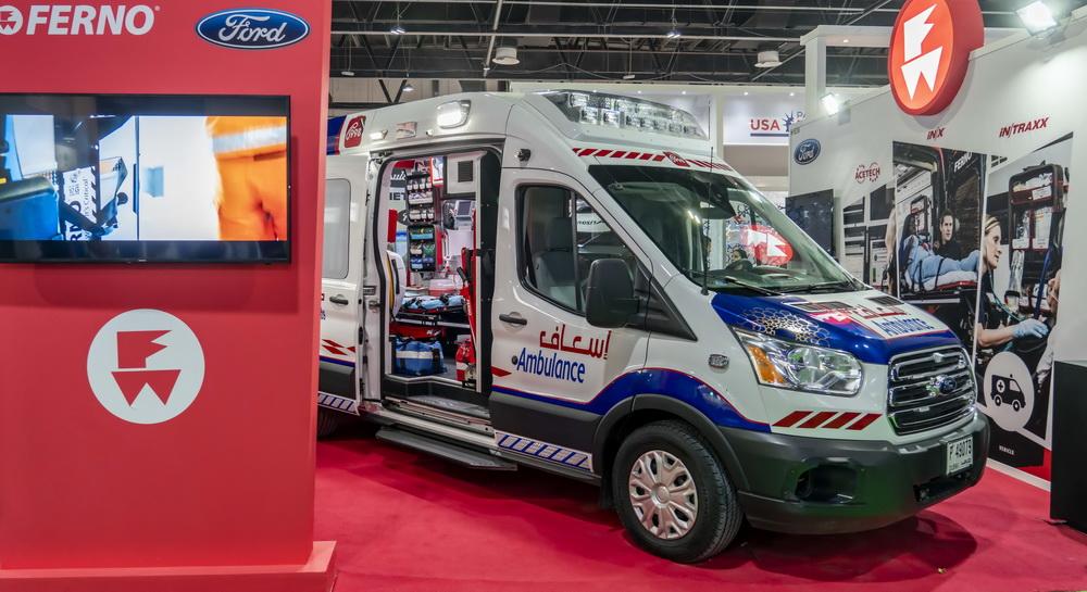 فورد ترانزيت مجهزة بخدمات سيارات الإسعاف في الشرق الأوسط
