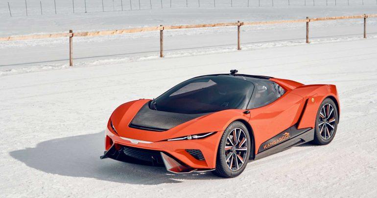 جيوجارو كانجارو : السيارة الخارقة الكهربائية التي تصلح للسير على كافة أنواع الطرقات