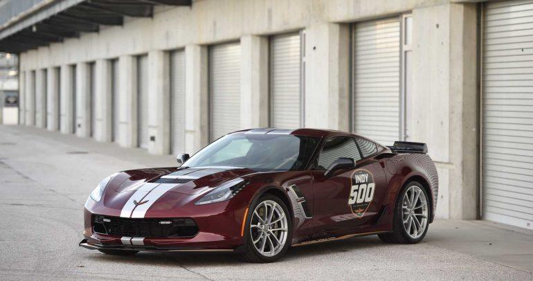 شفروليه كورفيت جراند سبورت السيارة الإفتتاحية لسباق إندي 500 لعام 2019