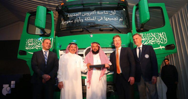 بدء إنتاج شاحنة مرسيدس أكتروس الجديدة بأيدي سعودية