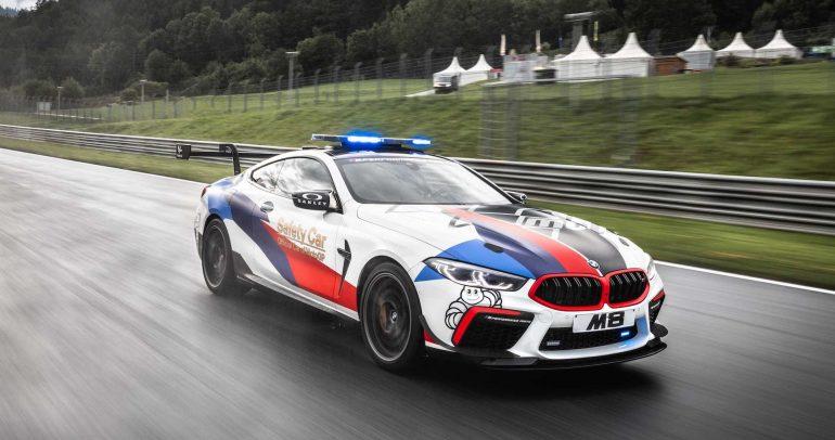 بي ام دبليو M8 كومبيتشن سيارة السلامة الجديدة لبطولة العالم للدراجات النارية