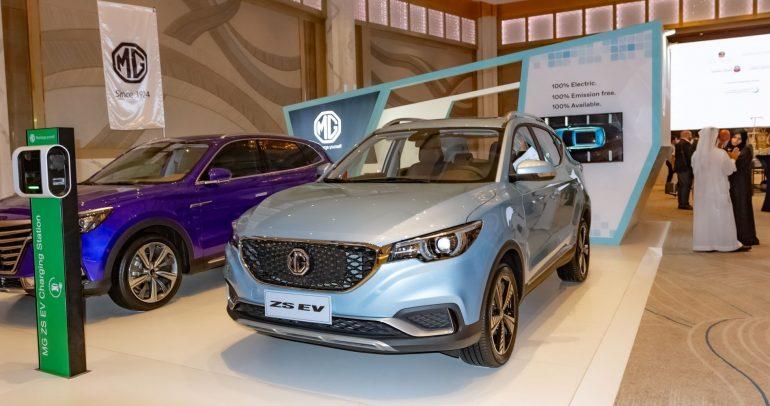إم جي ZS تنطلق رسميا في الشرق الأوسط كأول سيارة كهربائية من إم جي