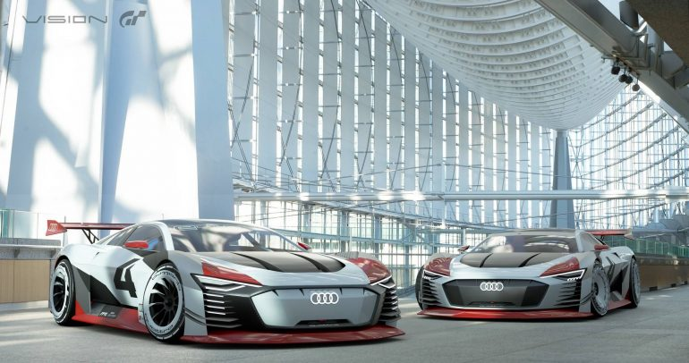 أودي إي-ترون فيجن GT : السيارة الكهربائية الخارقة الإفتراضية