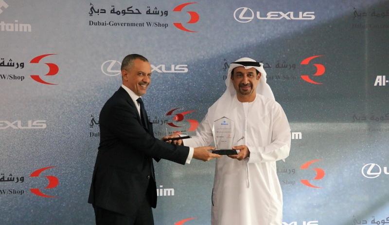 اتفاقية تعاون بين ورشة حكومة دبي ولكزس الامارات