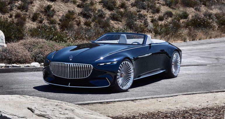 مرسيدس-بنز مايباخ فيجن 6 المكشوفة : مستقبل السيارات الكهربائية الفارهة