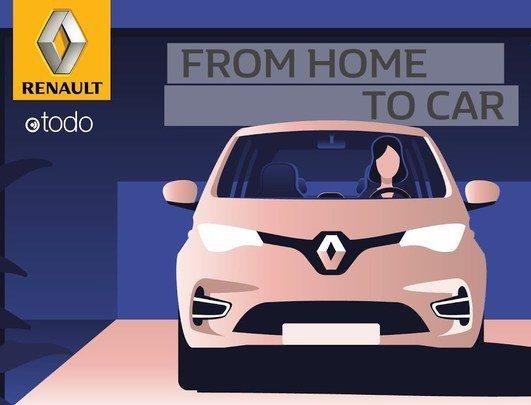 جديد رينو.. تطبيق للتحكم بأجهزة المنزل من السيارة