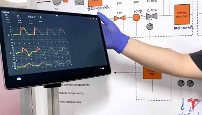 بالفيديو .. هكذا تُنتج تيسلا أجهزة التنفس الصناعي