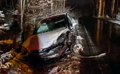 حادث بسيارة تيسلا