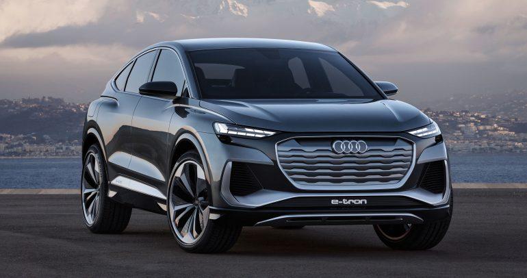 """أودي تطلق العنان لإنتاج """"Q4 Sportback e-tron"""" أحدث طراز SUV كوبيه"""