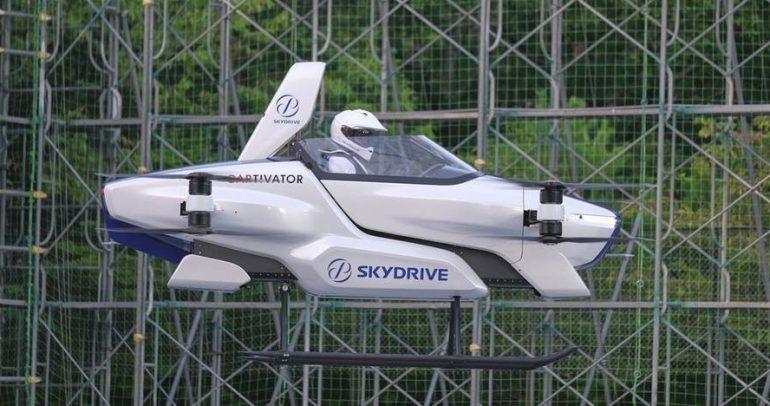 شاهدوا.. اختبار السيارة الكهربائية الطائرة بنجاح في اليابان