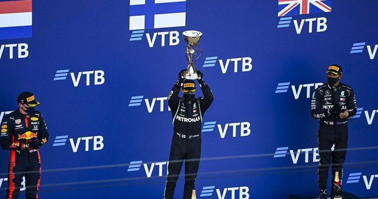 بوتاس سائق مرسيدس يفوز بسباق جائزة روسيا الكبرى